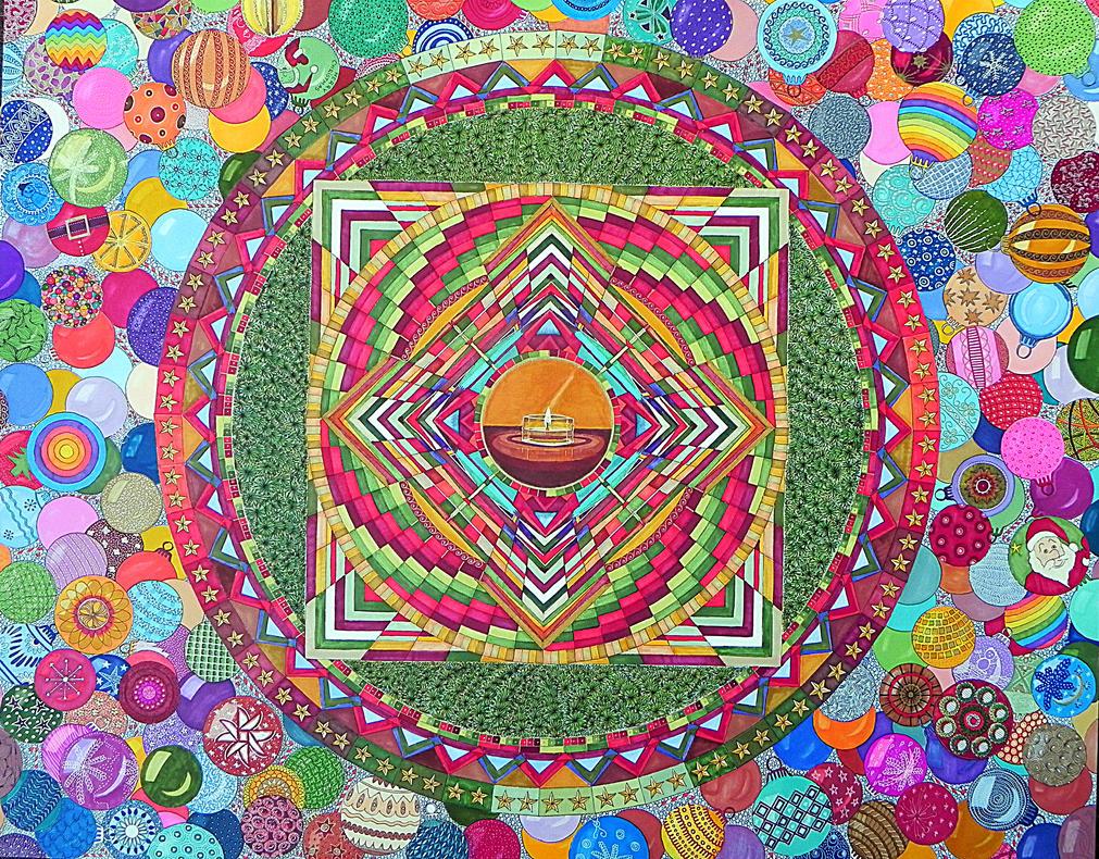 Huge Mandala3 by Lou-in-Canada