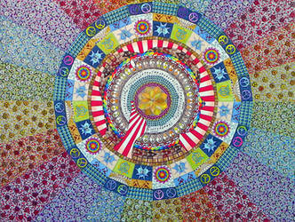 Mandala 8 finished (traditional) markers on board by Lou-in-Canada