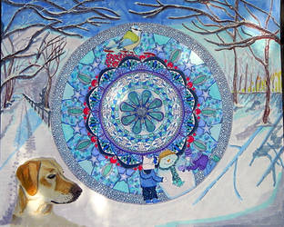 Mandala10 traditional work by Lou-in-Canada
