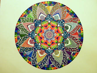Mandala for high energy 9 yr old by Lou-in-Canada