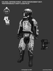 Takamo Universe: AES Fighter Pilot by LoomingColumn