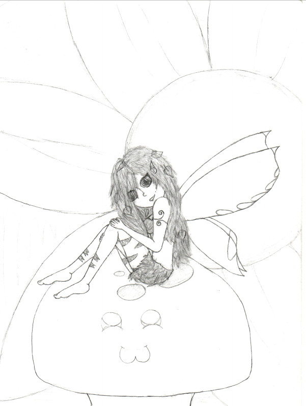 Fairy Outline Drawings Fairy outline by sparklevamp
