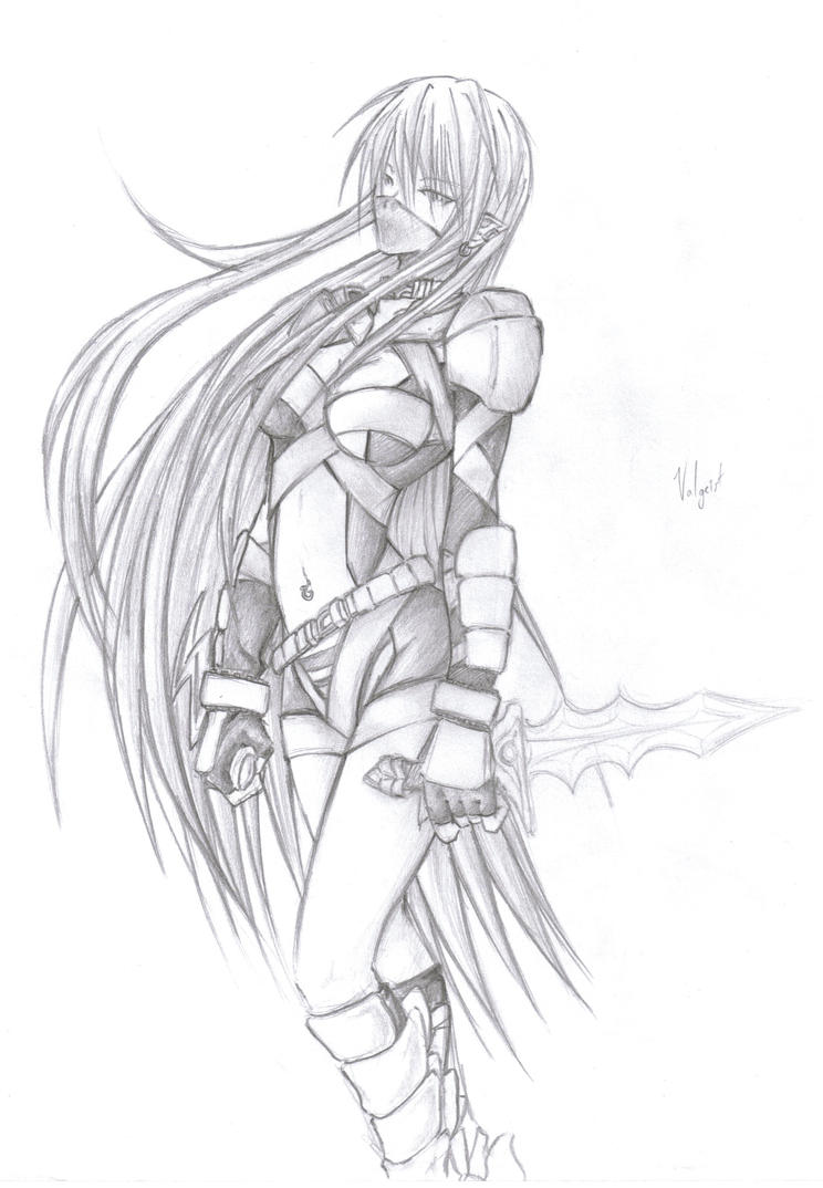 Anime Assassin Girl Drawing | www.pixshark.com - Images ...