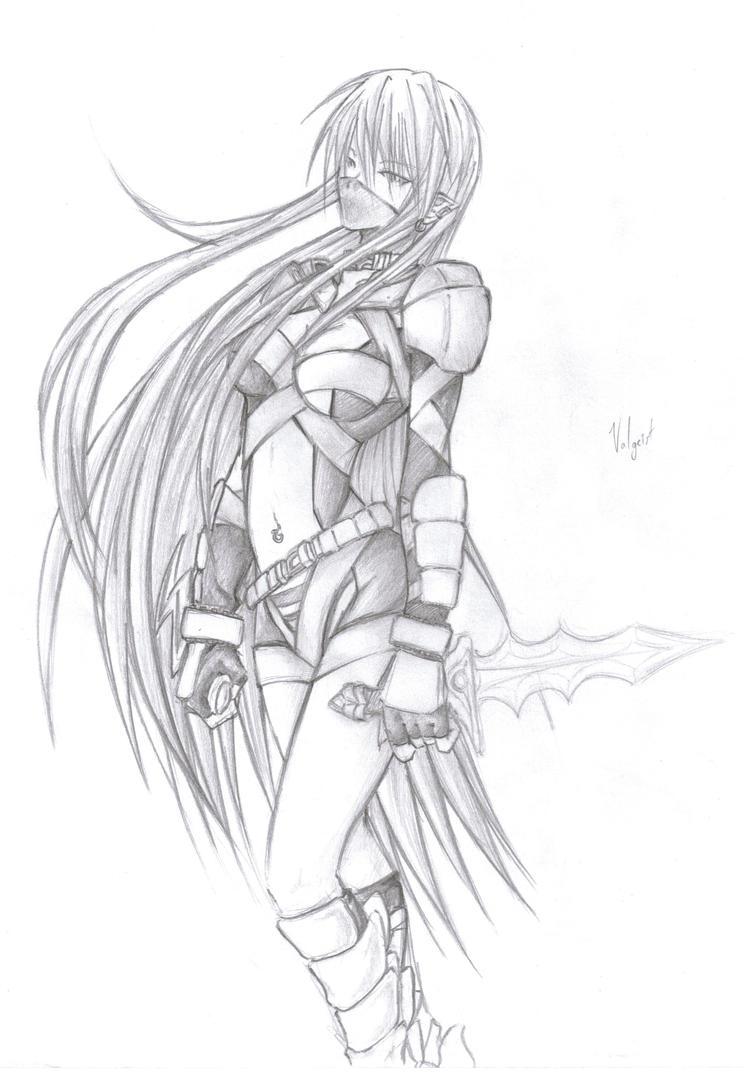 Anime Assassin Girl Drawing | www.pixshark.com - Images ...