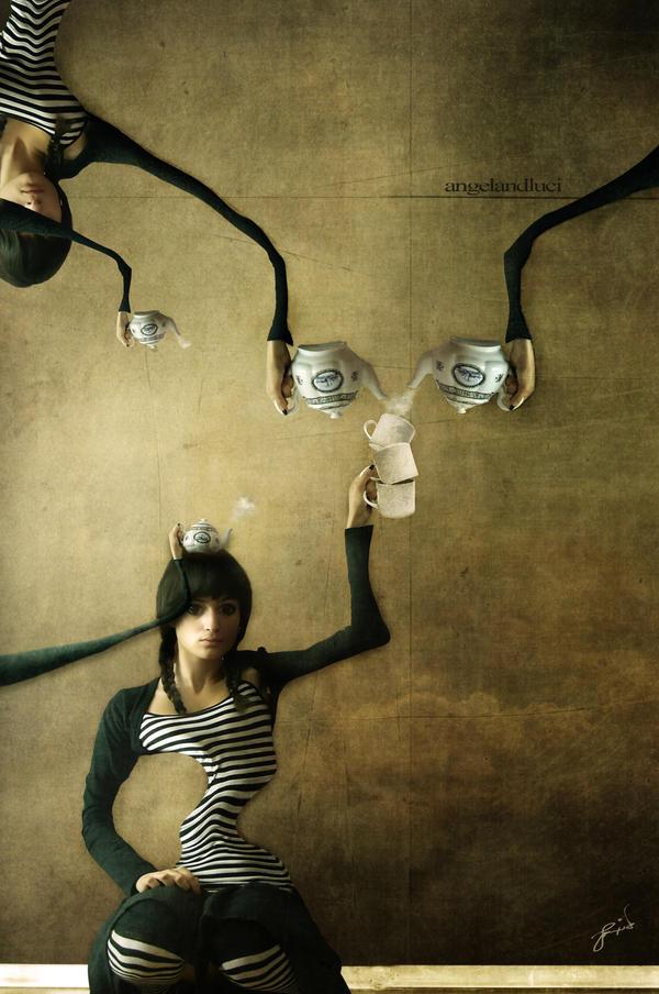Meditate Over Tea by angelandluci