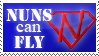Nuns can Fly STAMP by CPDT
