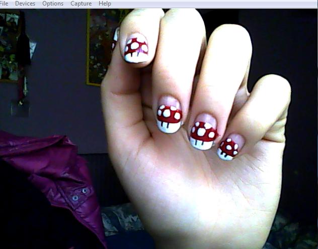 Super Mario mushroom nails by aita92 on DeviantArt