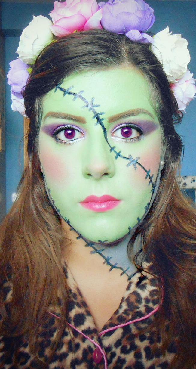 Frankenstein's Bride Halloween Makeup 2015 by aita92