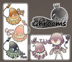 [3/4 OPEN auction] Ghroom Species 1 by ryesoul
