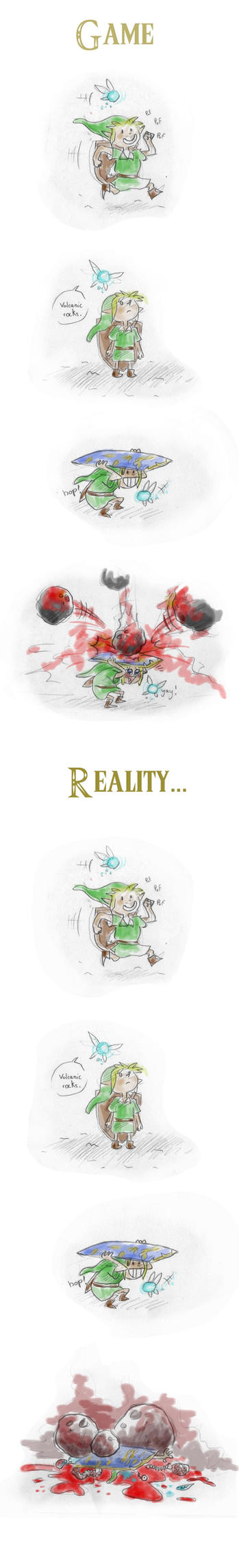 Link versus reality by Gouenne