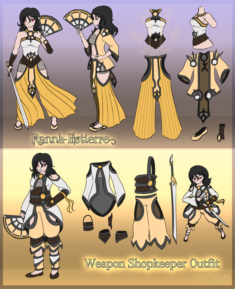 [Character] Ranna Reference by Voleno