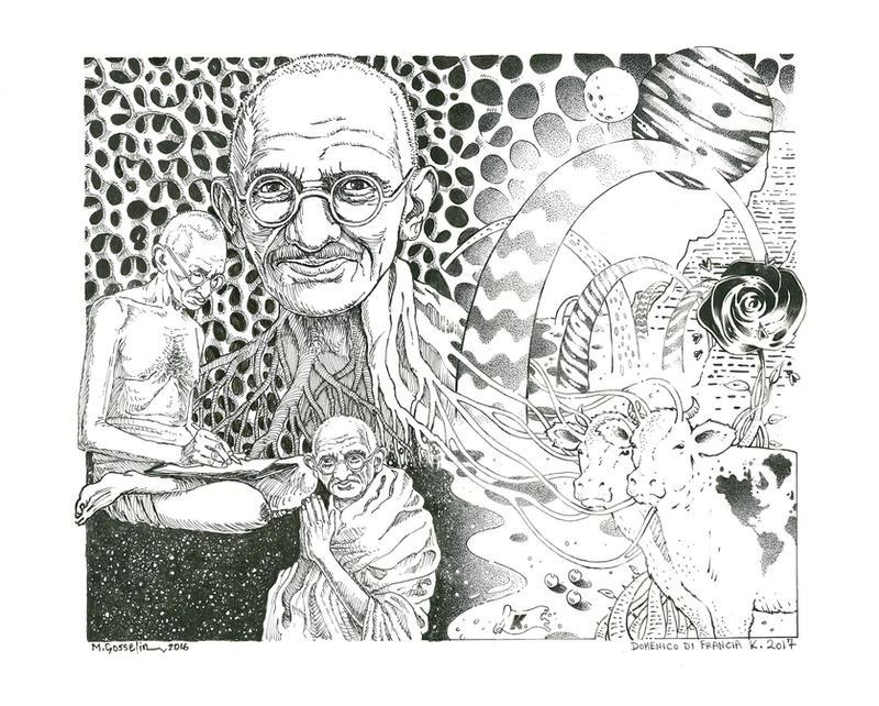K. and Marc Gosselin 2017 - Ghandi in Wonderland by Keneru92
