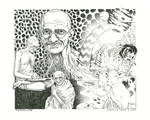 K. and Marc Gosselin 2017 - Ghandi in Wonderland