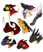 dragon doodles by daidaishar