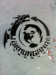 Jormungandr Stencil by daidaishar