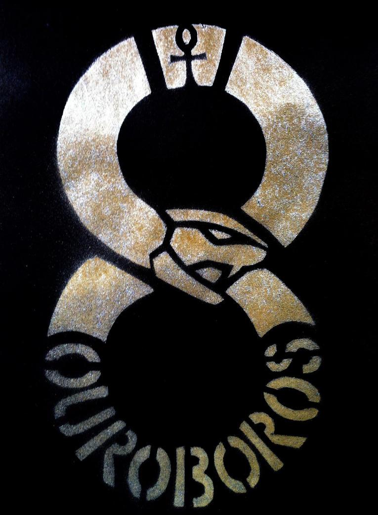 Ouroboros Stencil by daidaishar