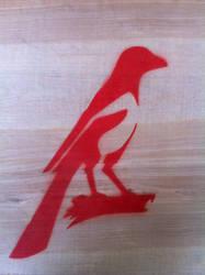 Magpie Stencil by daidaishar