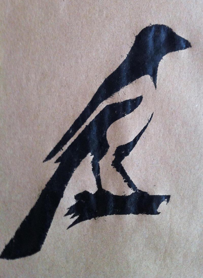 Magpie Stencil 2 by daidaishar