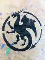 Circle Dragon Stencil
