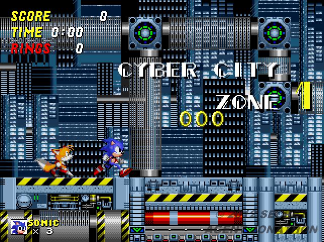 Lost Sonic The Hedgehog 2 Zones Cyber City Zone By Secretagentjonathon On Deviantart