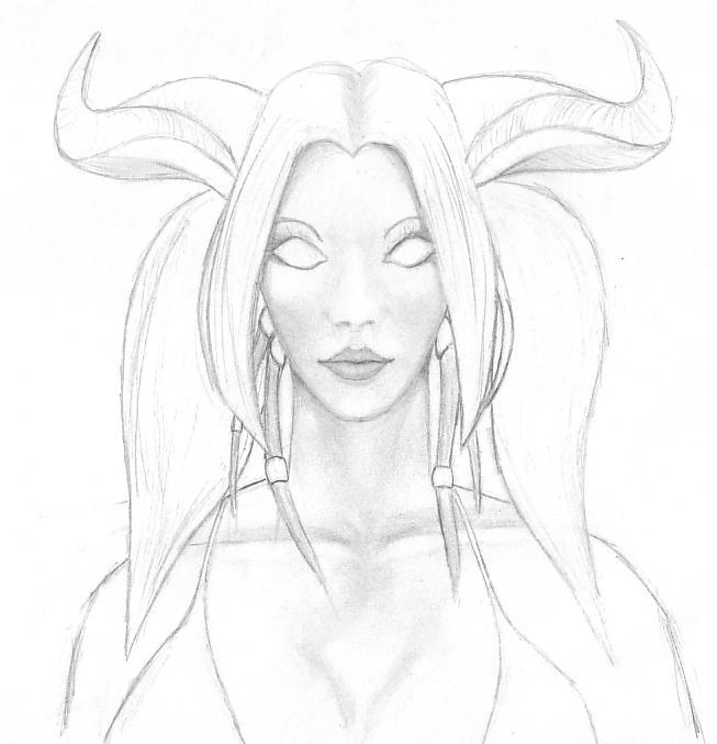Draenei pencil sketch by pclizard on DeviantArt