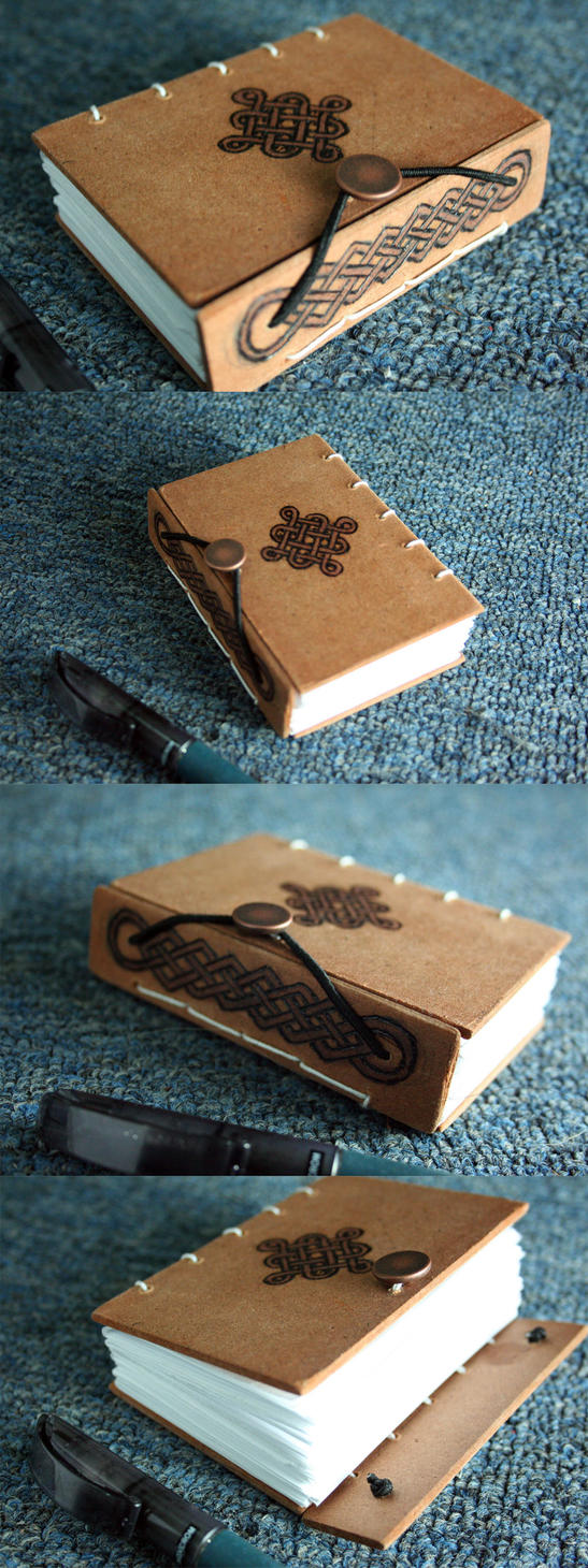 Wooden Celtic Book by yagarasu