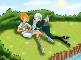 AT: Sevelina and Illara by LaminaNati