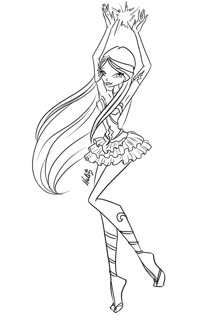 Com: sketch Ella Enchantix by LaminaNati