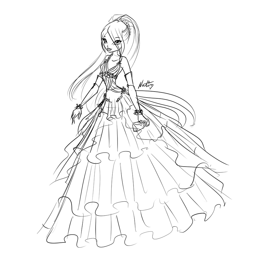 how to draw a ball gown