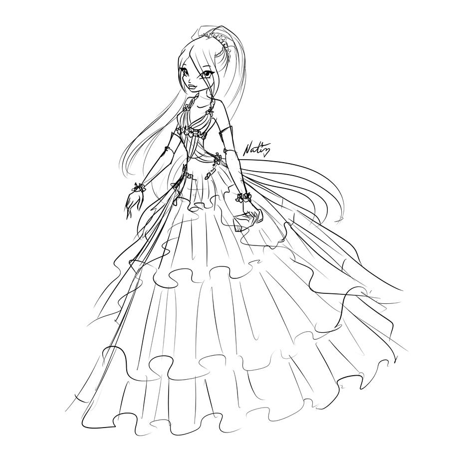 Com Sketch Angelina Ball Dress By LaminaNati On DeviantArt