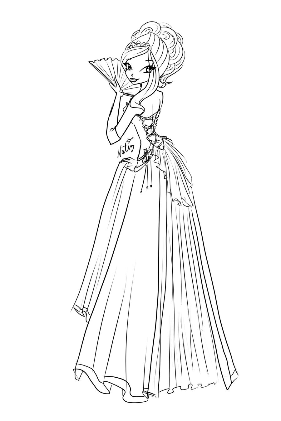 Com Sketch Rose Ball Dress By LaminaNati On DeviantArt