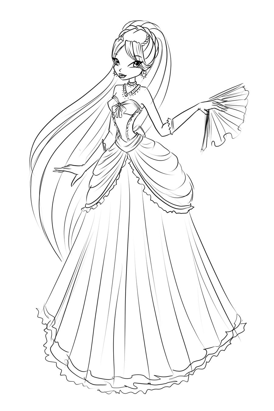 Com Sketch Diana Ball Dress By LaminaNati On DeviantArt