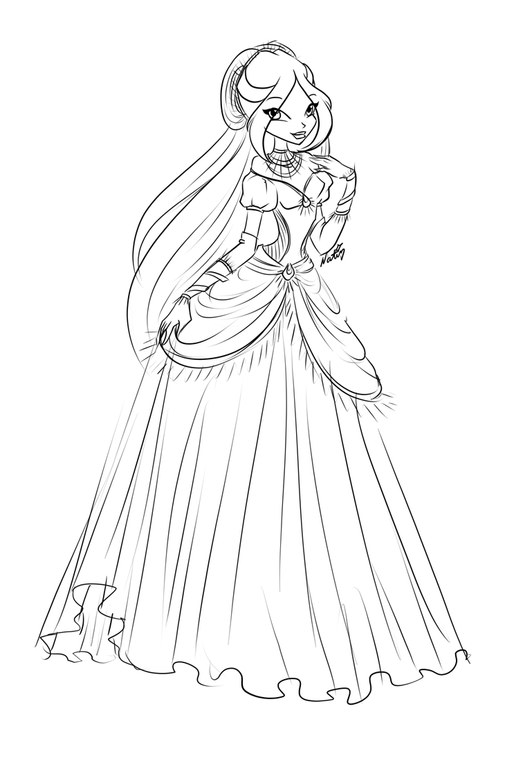 Com Sketch Euphrosyne Ball Dress By LaminaNati On DeviantArt