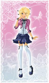 SS: Liz in Season 6 School Outfit