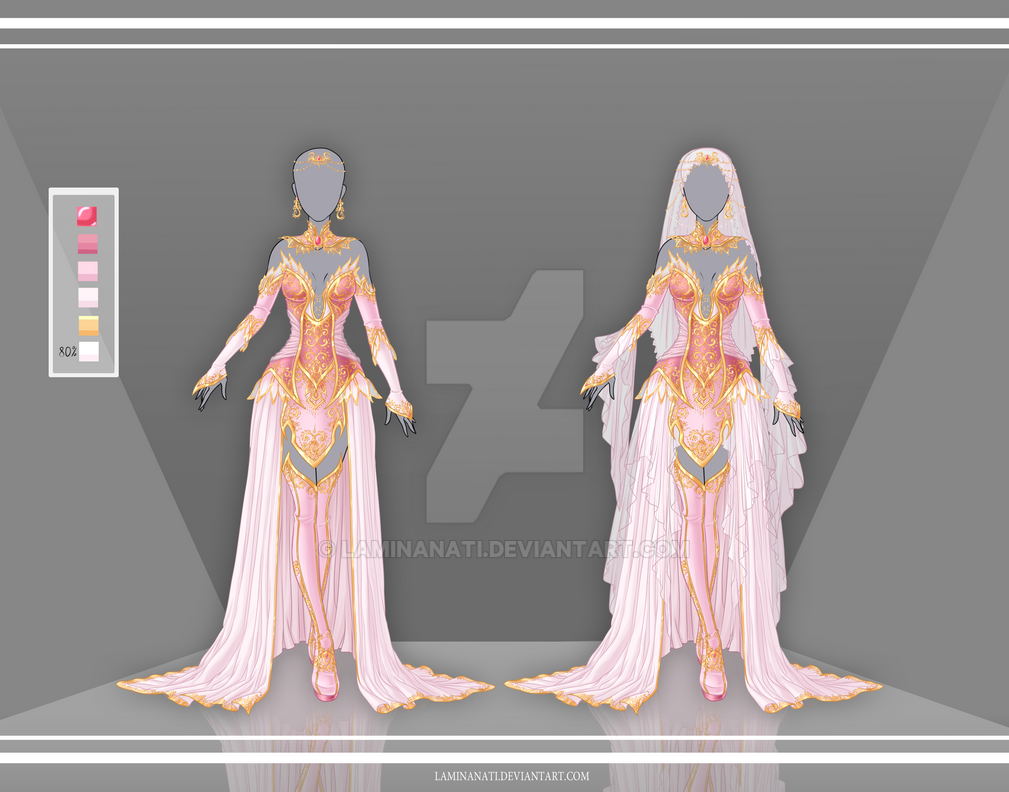Dress Designs Drawings With Color