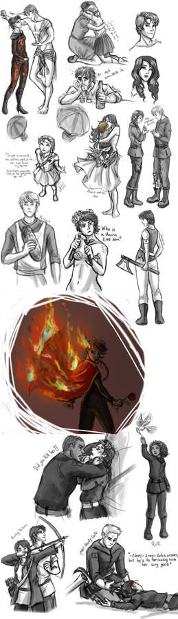 The Hunger Games Sketch Dump