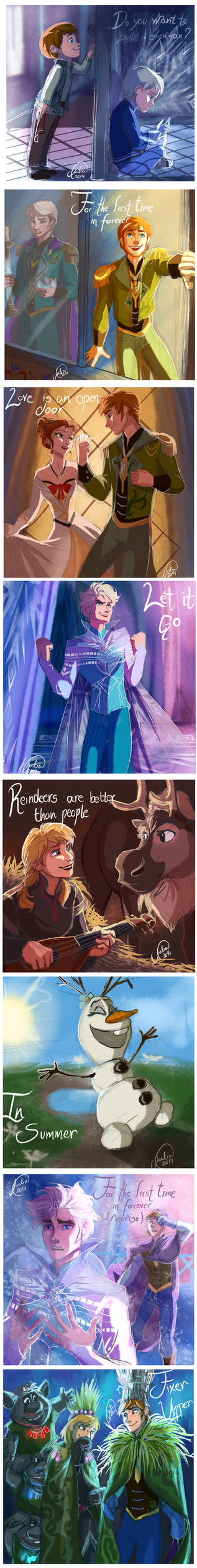 Frozen Songs - Genderbend