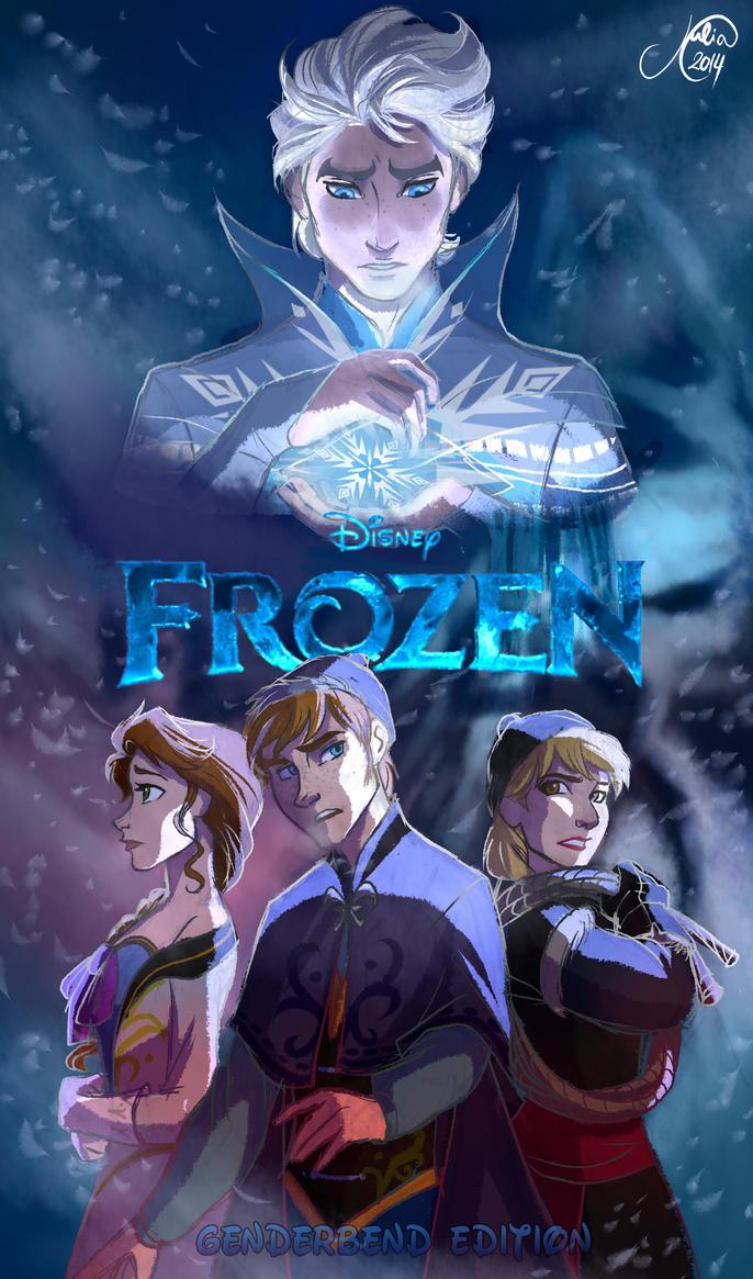Frozen Genderbend Movie Poster by juliajm15