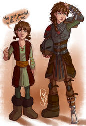 Fem!Hiccup by juliajm15