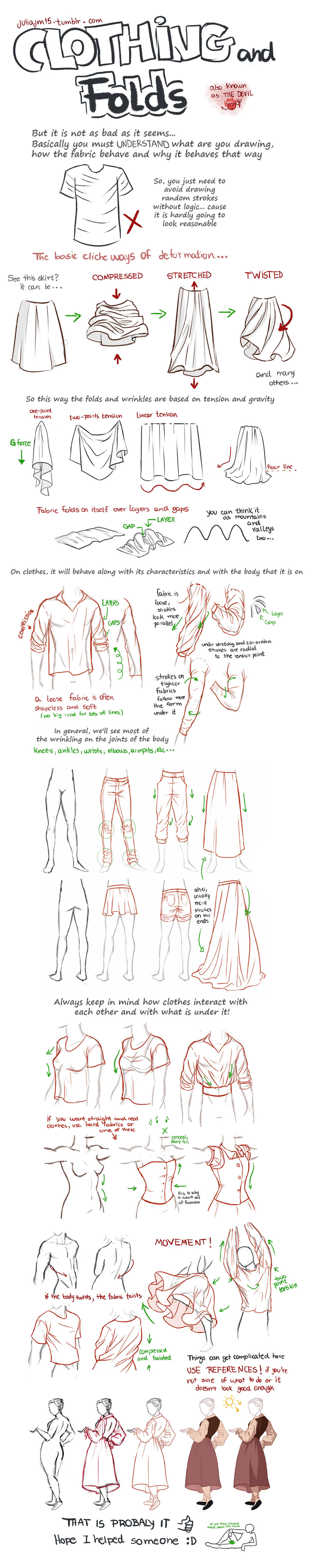 Clothing and Folds Tutorial by juliajm15