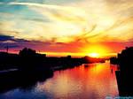 Sunset in Wolfsburg.