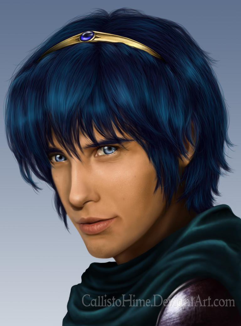 Marth Portrait by CallistoHime