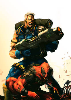 Zombie Cable and Deadpool