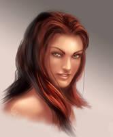 Female face 1 by EspenG