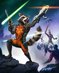 Rocket Racoon (and Groot)