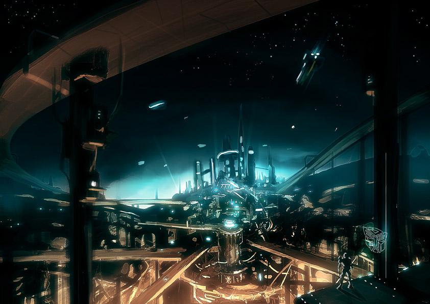 Cybertron landscape sketch by EspenG