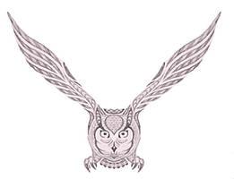 Stylized Owl by cermaith