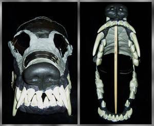 Bear-Dog Skull WIP