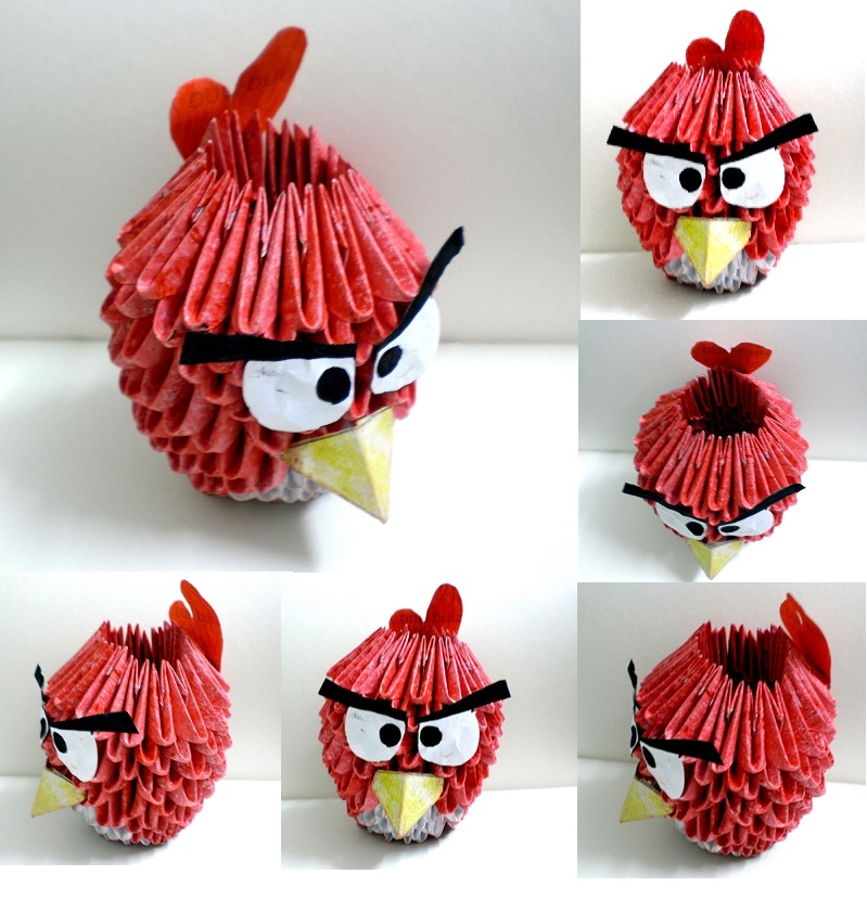 3D Origami Angry Bird by Rajlakshmi