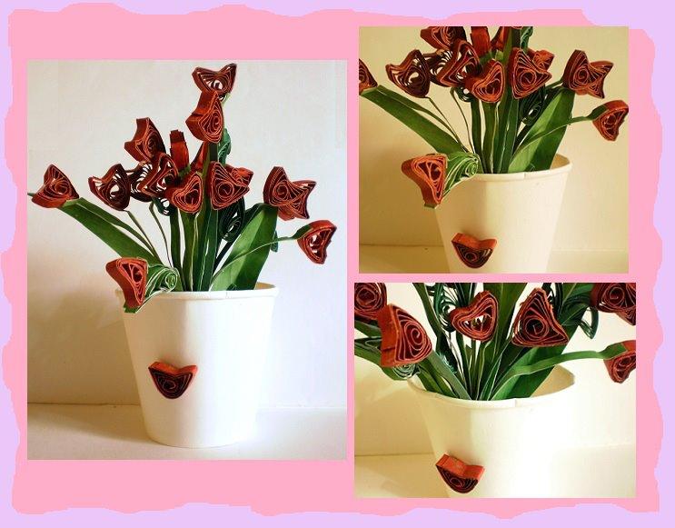 Quilling flower by rajlakshmi on deviantart - Paper quilling art wallpapers ...